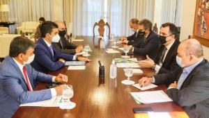 Governadores em reunião com Rodrigo Pacheco