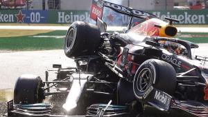 Lewis Hamilton sofreu acidente no último GP de Fórmula 1