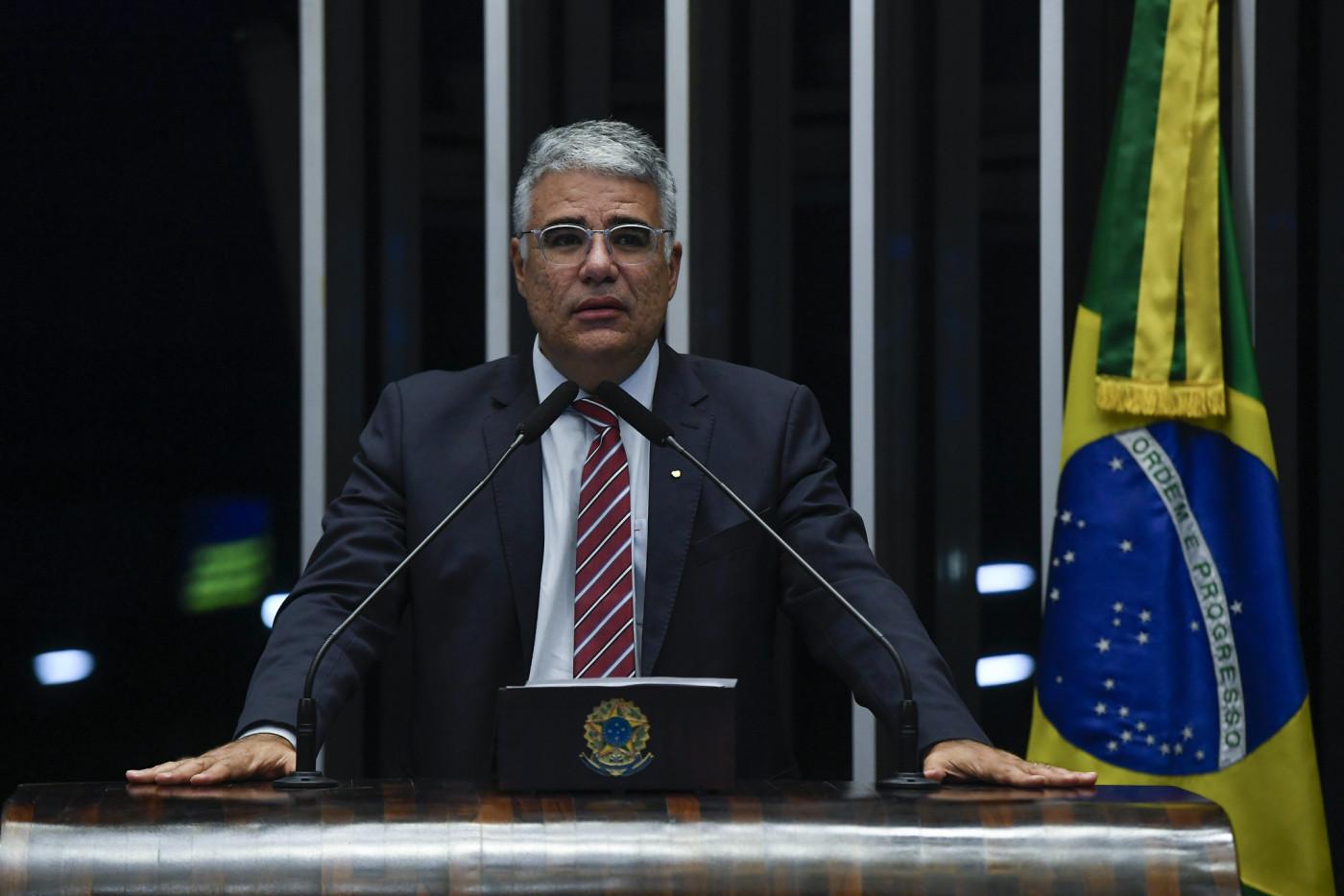 Senador Eduardo Girão durante pronunciamento