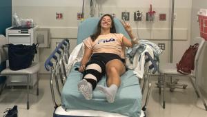 Luisa Stefani pós-cirurgia