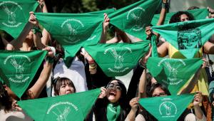 Mulheres protestam pela legalização do aborto no México