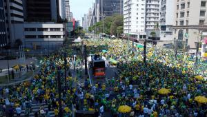Manifestações na avenida Paulista