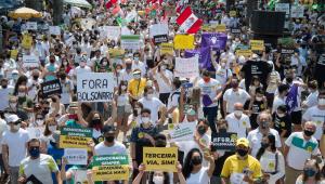 Manifestantes protestam em Belo Horizonte contra Bolsonaro