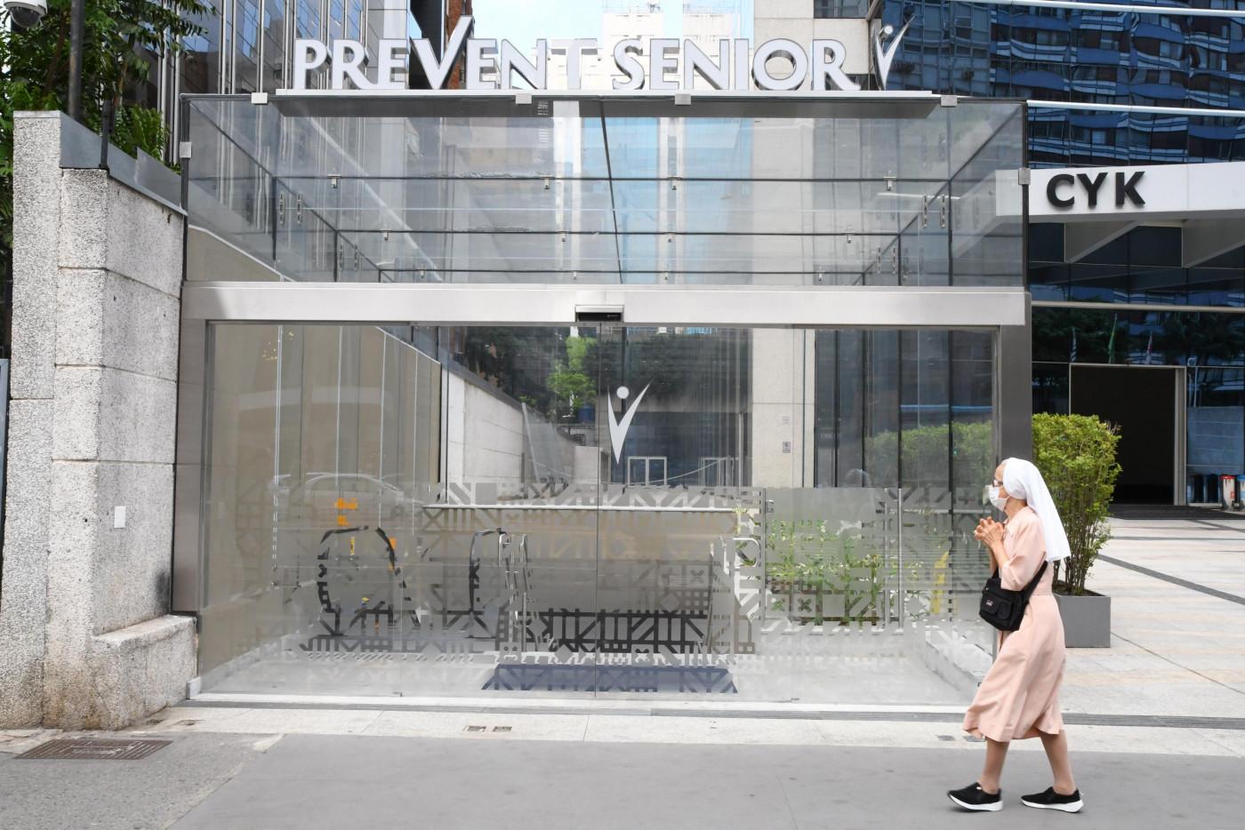 Fachada de hospital da Prevent Senior, localizado na região da Avenida Paulista
