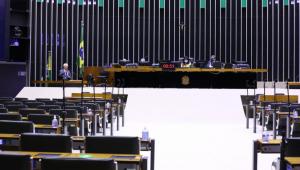 Plenário da Câmara dos Deputados vazio