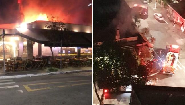 Incêndio em bar localizado na Mooca, na zona leste da capital paulista