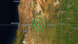 mapa mostrando epicentro de terremoto na argentina