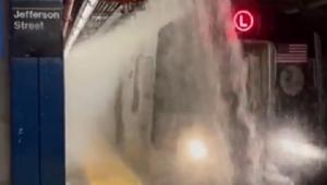 alagamento metrô nova york