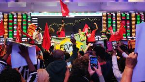MTST ocupa Bolsa de Valores