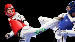 Nathan Torquato ganhou medalha de ouro no parataekwondo