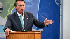 Presidente da República, Jair Bolsonaro (sem partido) discursa em cerimônia de entrega da medalha ao Mérito Desportivo Militar, realizada no Centro de Educação Física Adalberto Nunes (CEFAN), no Rio de Janeiro,