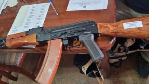 Arma apreendida em Maringá