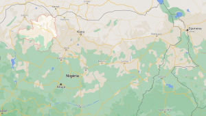imagem de mapa com estado de zamfara em destaque
