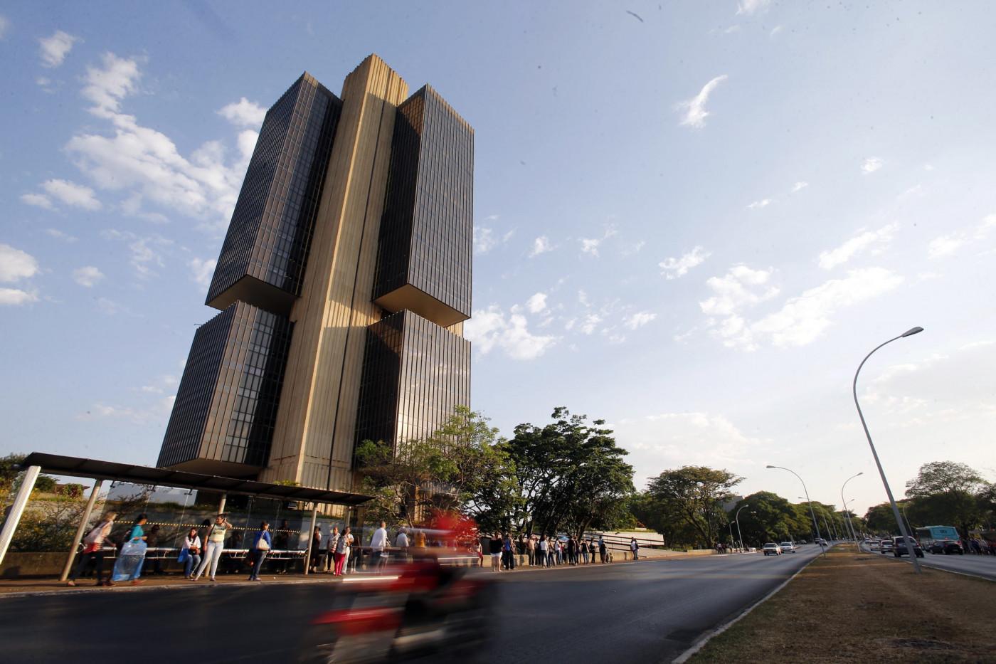 Retrato do edifício sede do Banco Central, em Brasília