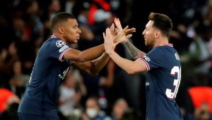Messi e Mbappé marcaram na partida entre PSG e RB Leipzig, pela Liga dos Campeões