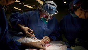 pessoas operando em sala de cirurgia