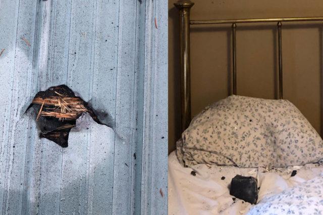 meteorito atinge cama de mulher no canadá