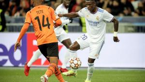 Vinícius Junior brilhou na vitória do Real Madrid diante do Shakhtar