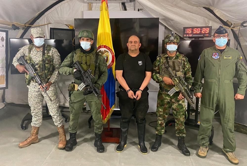 Colômbia prendeu 'Otoniel', traficante mais procurado do país