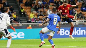 Ferrán Torres marcou duas vezes para a Espanha no duelo contra a Itália, válido pela semifinal da Liga das Nações