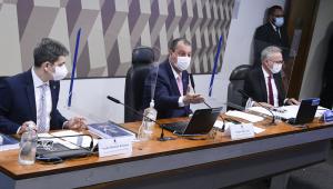 Cúpula da CPI em reunião da comissão