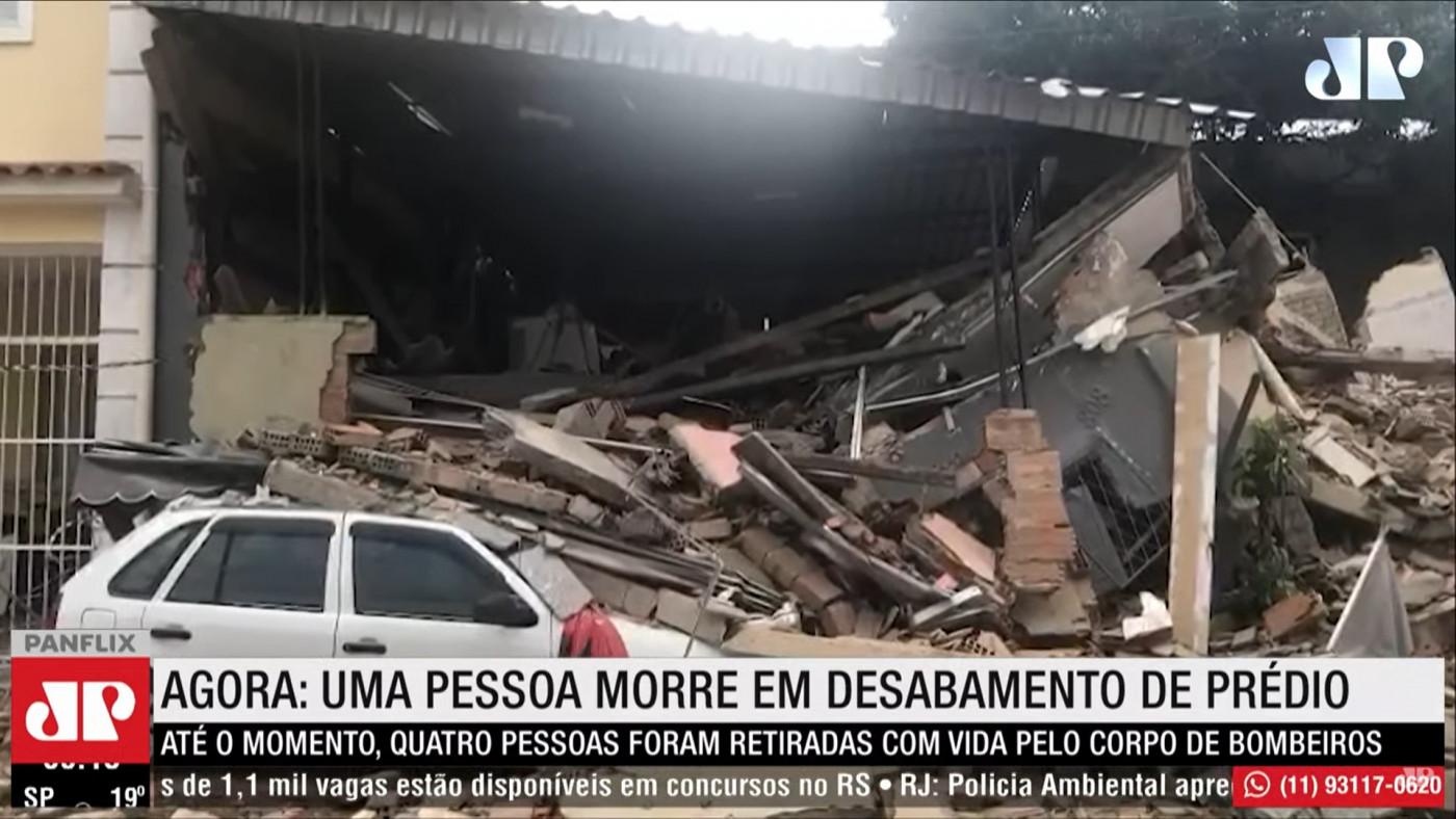 escombros de prédio que caiu em nilópolis, no rio de janeiro