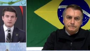 'Teu pai quer a cadeira do Flávio Bolsonaro', diz Jair Bolsonaro ao comentarista André Marinho