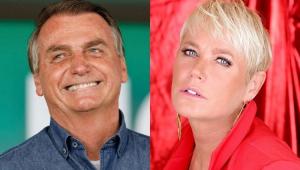 Montagem com fotos de Xuxa e Bolsonaro