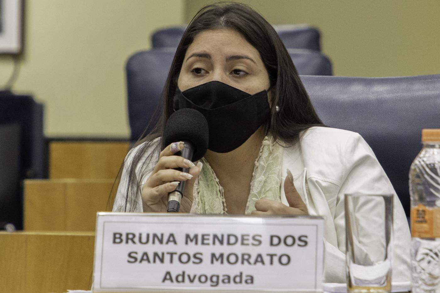 Advogada Bruan Morato prestando depoimento à CPI da Prevent Senior