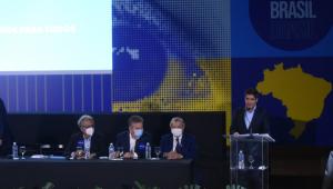 ACM Neto em palanque durante Convenção Nacional do Democratas