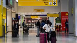Movimentação no aeroporto de Guarulhos