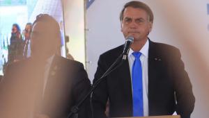 Jair Bolsonaro durante evento em Belo Horizonte