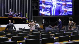 Plenário da Câmara dos Deputados, Ricardo Barros ao microfone