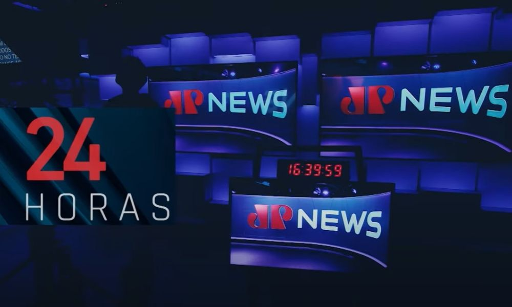 Estúdio de TV do canal Jovem Pan News