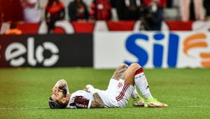 Gabigol sofreu lesão no empate entre Flamengo eAhtletico-PR
