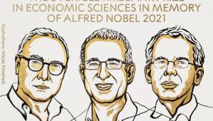 desenho de trio que ganhou nobel de economia