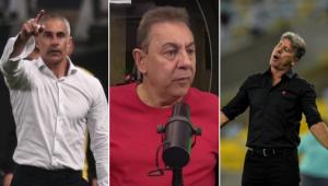 Flavio Prado acredita que o trabalho de Sylvinho, no Corinthians, é melhor do que o de Renato Gaúcho, no Flamengo