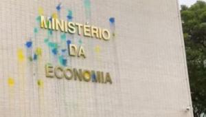 Protesto no Ministério da Economia