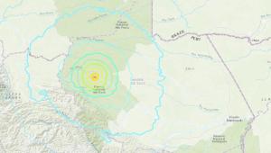 foto aérea de região de tremor