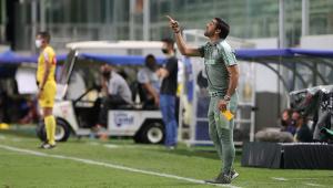 Abel Ferreira durante partida do América-MG e Palmeiras